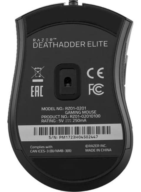 Sensor del raton gaming razer deathadder elite, de los mejores del mercado