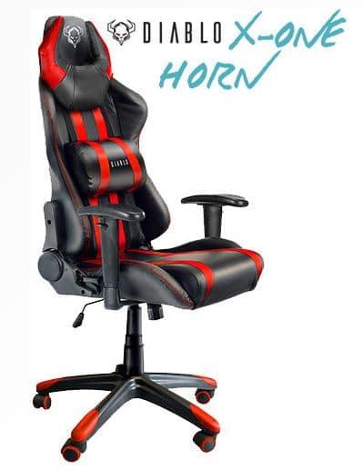 Silla gaming mas vendida de la gama media: Diablo X ONE Horn