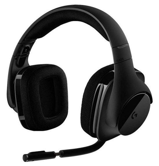 Auriculares gamer Logitech G 533 negros en tela
