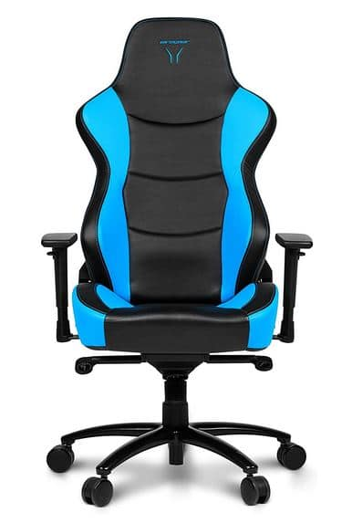 Silla gamer Medion Erazer x89017 azul y negra de frente