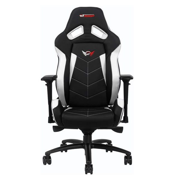 Silla gamer GT Omega Elite Racing - Color blanco y negro